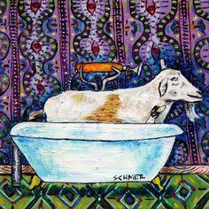 Sea Lion bathroom bath picture animal art  4x6  folk pop ART  GLOSSY PRINT