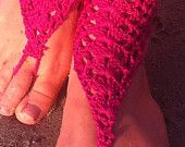 Pink funky crochet sandals. For every sale sandals gift a pair of earrings. crochet barefoot sandals, , barefoot s
