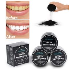 Teeth Whitening Dental Powder – Wish United Dental Teeth, Dental Hygiene, Tooth Powder, Natural Teeth Whitening, Makeup Store, Teeth Care, Tea Stains, Activated Charcoal, Teeth Cleaning