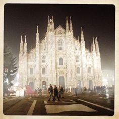 january 7 - 2013  night and fog in Milano