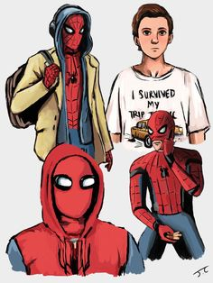 Living part time with the Avengers can be interesting. Going around as Spiderman can be dangerous. Peter Parker takes on a normal teenage life but with a small. Marvel Dc Comics, Marvel Avengers, Marvel Art, Marvel Memes, Tom Holland, Bucky, Captain America, Spiderman Art, Spideypool
