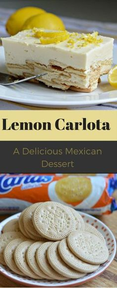 This is about a simple a dessert recipe as you will find, but it is delicious! A lemon carlota is a Mexican dessert that is very popular in Mexico - It only requires 4 ingredients! dessert recipe Lemon Carlota Recipe Easy Mexican Dessert To Please a Crowd Lemon Desserts, Lemon Recipes, Köstliche Desserts, Sweet Recipes, Delicious Desserts, Coconut Desserts, Brownie Desserts, Oreo Dessert, Authentic Mexican Recipes