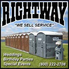 Portable Restrooms for any event! Give Rightway a call (800) 222-2708/ (951) 674-8608 #specialevents #rightway #wedding #birthday #portablerestrooms #restroomtrailers #portapotty #outdoorevents #lakeelsinore  #wesellservice