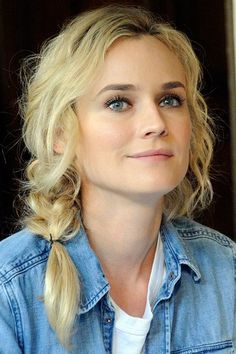 We heart Diane Kruger's easy-going, undone braid!