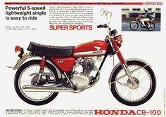 What was the first bike you bought with your own money?  If you're 50 or older, it was probably something like this Honda CB100.
