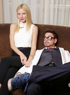 Gwyneth Paltrow and Robert Downey Junior