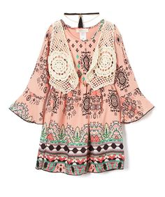 Take a look at this Pink Vest Shift Dress - Girls today!