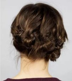 nufes konta mallia idees Bridal updo for short hair