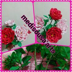 Rosas artificiais em EVA