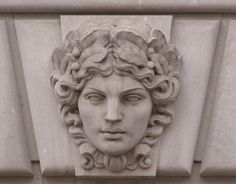 Limestone Mascaron, Female, EPA Building, Washington, D.C. | Flickr - Photo Sharing!