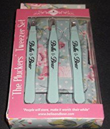 Eyebrow Tweezers Set By Bella & Bear. Stainless Steel 3 Piece Tweezers Set With Case, Includes Slant, Pointed & Flat Tip Tweezers: Amazon.co.uk: Beauty