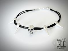 NEW #skull bracelet from JewelryByMaeBee on #Etsy. #sfetsy www.jewelrybymaebee.etsy.com