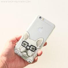 """Clear Plastic Case Cover for iPhone 6 (4.7"""") Henna The Frenchie"""
