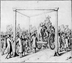 Hanging at Tyburn Cross circa 1700