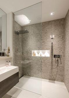 Modern bathroom shower tile walk in shower ideas services modern bathroom Contemporary Shower, Contemporary Bathroom Designs, Modern Bathroom Decor, Bathroom Layout, Bathroom Interior, Modern Bathrooms, Small Bathrooms, Modern Contemporary, Modern Shower