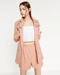 FLOWING LINEN BLAZER-BLAZERS-WOMAN-SALE | ZARA United States