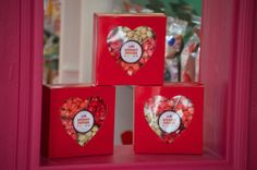 Valentines Day Heart Popcorn Boxes