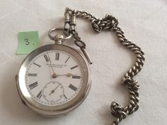 Engraved Silver Pocket Watch Silver Pocket Watch, Wrist Watches, Buy And Sell, Accessories, Watches, Watch, Jewelry Accessories