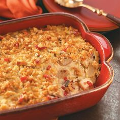 "Overnight Chicken Casserole Recipe -I don't know where this casserole originated, but the recipe was given to me some 40 years ago. It's my family's all-time favorite. Not only is it a great ""company"" meal, it's also well-received at potluck dinners."