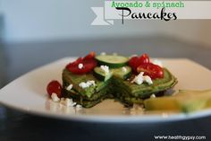 Avocado and Spinach Pancakes  http://www.healthgypsy.com/2014/06/12/avocado-and-spinach-pancakes/