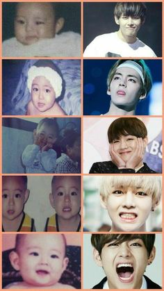 Baby V and adult taehyung Bts Taehyung, Bts Bangtan Boy, Foto Bts, Bts Photo, Bts Predebut, Bts Memes Hilarious, Bts Funny Videos, Daegu, K Pop