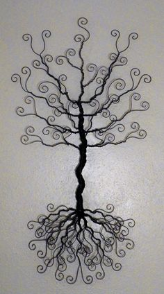 Wire jewelry tree wall hanging.. earring, necklace organizer, display, sculpture ..made to order..