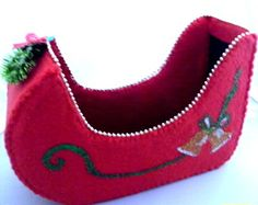 How to make Recycled Milk Bottle - Christmas Sleigh - #DIY Craft Project with instructions from Craftbits.com #milkjugs