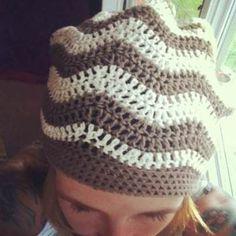 Chevron hat crochet pattern free