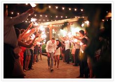 i know sparklers are trendy right now, but i can't help it... i love this idea!