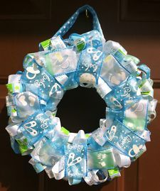 wreaths for birth of baby boy | ... Door Wreath/ Bow/ Hospital Door Bow/ Baby Shower Present/ It's a boy