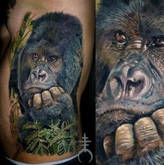 Thinking Gorilla Tattoo