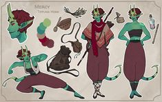"""""""Finished a ref sheet for Mercy - sods law dictates she will now be killed in the first session. Character Reference Sheet, Character Sheet, Character Concept, Art Reference, Character Art, Concept Art, Character Ideas, Dungeons And Dragons Characters, Dnd Characters"""