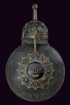 Qajar Khula Khud (Helmet) & Sipar (Shield) (19th Century CE Armor, Persia) (Czerny's International Auction House)