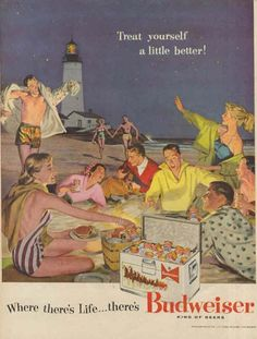 old budweiser ads and psoters