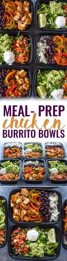 Meal-Prep Chicken Burrito Bowls