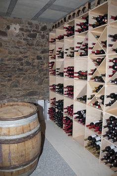 Création d'une cave à vin dans une grange attenante à la maison d'habitation