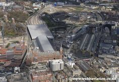 St Pancras Station and Kings Cross Station aerial photo Camden London, London Today, London History, Greater London, Urban Landscape, Aerial View, London England, Old Town, World