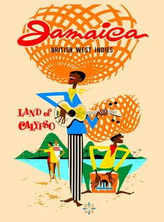 $8.79 - Jamaica Caribbean Islands Jamaican Vintage Travel Advertisement Art Poster #ebay #Collectibles