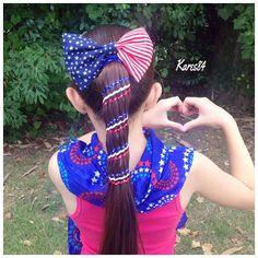 """❤️Aztec Carousel Braid❤️ Inspired in @hair4myprincess #hair4myprincess We are joining in #happybdaytamaratwin for @ice_braids .. Happy Birthday Tamara #4thofjulyhair #4thofjuly #ponytail"" Photo taken by @kares84 on Instagram, pinned via the InstaPin iOS App! http://www.instapinapp.com (06/23/2015)"