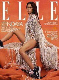 Zendaya on Emmy Win, Filming Malcolm & Marie, and Euphoria Season 2 Dope Fashion, Fashion News, Fashion Mag, Fashion 2018, Fashion Brand, Zendaya Photoshoot, Elle Us, America Girl, Elle Magazine