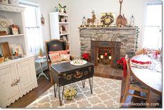 Blue Cottage Christmas Home Tour 2014. dagmarbleasdale.com