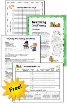 Help your students improve their reading fluency and reading comprehension with this partner activity for graphing oral reading fluency. Free Oral Reading Fluency packet included in this post! Reading Lessons, Reading Resources, Reading Strategies, Reading Activities, Reading Intervention, Teaching Reading, Guided Reading, Reading Comprehension, Reading Groups