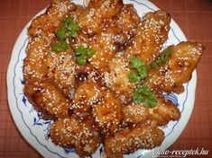 Szezámmagos csirke | Receptneked.hu (olcso-receptek.hu) Superfood, Ketchup, Chicken Wings, Chicken Recipes, Turkey, Dishes, Baking, Vietnam, Cake