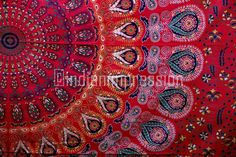 Indian Mandala Wall Hanging Tapestry Bedspread Twin Hippie Dorm Ethnic Boho Art #Handmade #BedspreadBedsheetWallHanging
