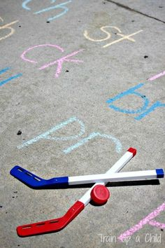 Gross Motor Phonics Games - Work on letter sounds, blends and increase phonemic awareness with some simple gross motor fun.
