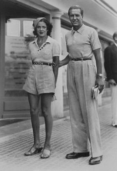 1940's Couple. Those very, very high waisted pants are so awesome