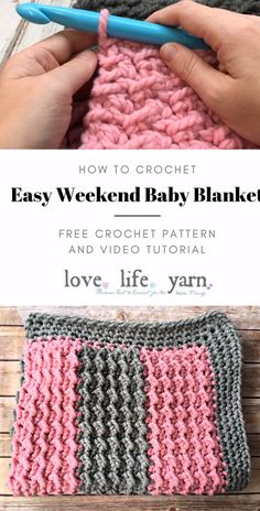 How to Crochet: Easy Weekend Baby Blanket- Yes, you really CAN make this blanket in a weekend! Using super bulky yarn and a very large hook makes this blanket a breeze. Very warm and easy to make. How to Crochet: Easy Weekend Baby Blanket Love. Crochet Baby Blanket Free Pattern, Crochet Afghans, Chunky Crochet Blankets, Crotchet Patterns, Crochet Baby Blanket Beginner, Crochet Throws, Free Baby Blanket Patterns, Beginner Crochet Tutorial, Baby Afghans