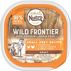 NUTRO Wild Frontier Small Prey Recipe Chicken Loaf With a Mix of Chicken and Turkey Pieces Dog Food Trays 3.5 Ounces (Pack of 24) ~~~ You can read more reviews of the product by visiting the link on the image. (This is an affiliate link and I receive a commission for the sales)
