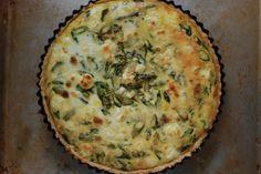 Asparagus and scallion Tart