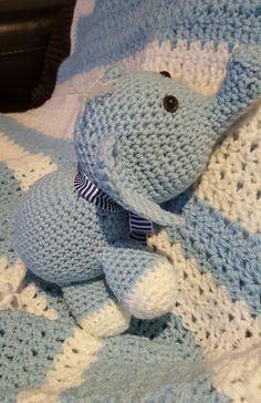Blue & White Elephant Arigurumi